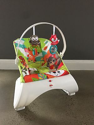 Fisher Price Woodland Curved Baby Bouncer - Excellent Condition - Mulgrave Vic