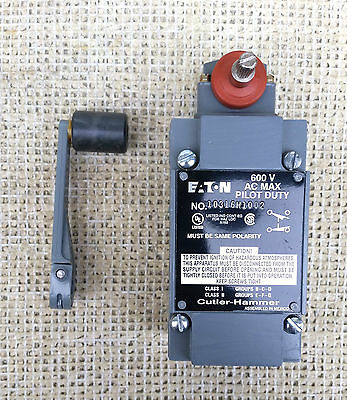 Cutler-Hammer 10316H1002 Limit Switch, Type Lx, Rotary Shaft , With Lever. *new*