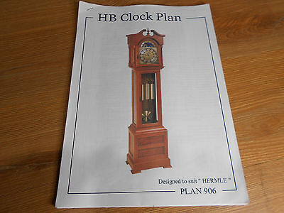 HB GRANDFATHER CLOCK PLAN 905 to suit Hermle Movements