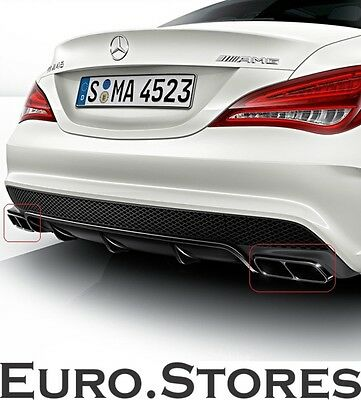 Mercedes CLA 45 AMG Performance Exhaust Tips Night Package For CLA W117 Genuine