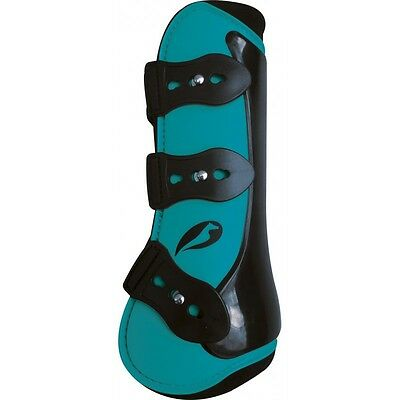 NORTON Competition Tendon and Fetlock Boots Set Turquoise Pony, Cob or Full