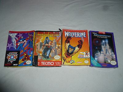 Nintendo Nes Box Lot Wolverine Captain America Ninja Gaiden Adventures In Magic