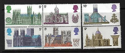 Queen Elizabeth 1969 Commemoratives Sg796-Sg801 1969 British Architecture Mnh
