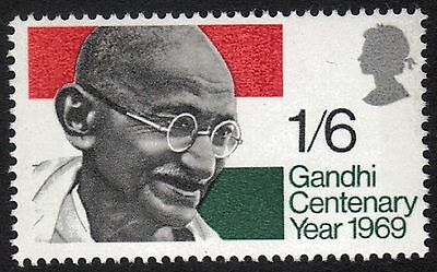 Queen Elizabeth 1969 Commemoratives Sg807 1969 Ghandi Centenary Year Mnh