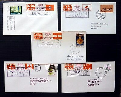 GB 1971 Special Courier Strike Mail Covers Different Destinations (5) NB1546