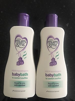 Cussons Mum and Me Baby Bath Snuffles Wash with Menthol 2 x 300ml Hypoallergenic