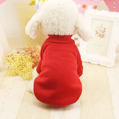 Pet Dog Cat Puppy Sweater Hoodie Coat For Small Dog Clothes Warm Costume Red M