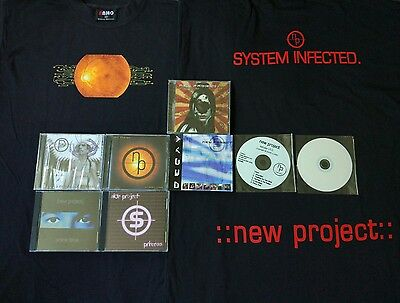 NEW PROJECT Collection 7 CDs, T-shirt industrial metal cyberpunk
