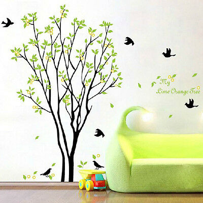 Tree Bird Quote Removable Vinyl Wall Decal Mural Home Art DIY Decor Sticker HOT