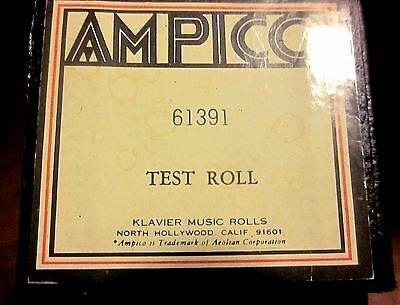 AMPICO 'ReCut' TEST ROLL Function Evaluation Tool Player Piano Roll (Klavier)
