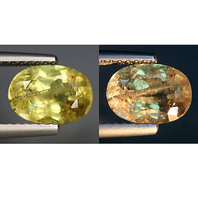 2.02 Cts_World Class Rarest Gemmy!!!_100 % Natural Color Change Diaspore_Turkey