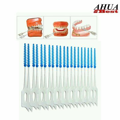 Soft plastic Tooth gums Gingival Interdental Brush Massage Toothbrush Floss 40ps