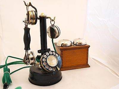 FRENCH HANGMAN 1920s PHONE  WITH BELL BOX VERY RARE FULLY WORKING, superb refurb