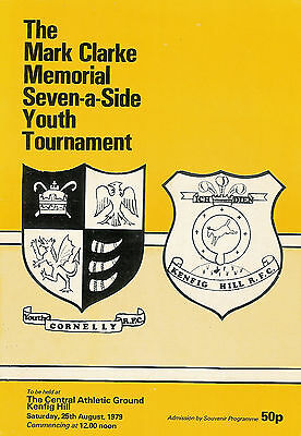 CORNELLY YOUTH RUGBY SEVENS PROG 1979 Pencoed, Swansea, Taibach & Cwmavon