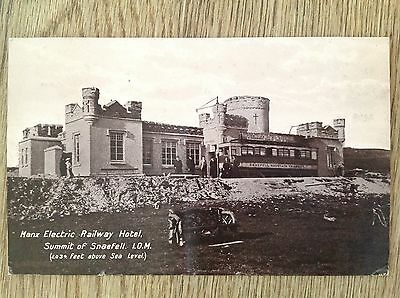 Postcard Manx Electric Railway Hotel Snaefell Summit Isle of Man IOM postmark