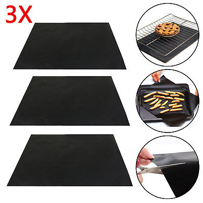 3PCS Oven Cooker Liners 40cm x 50cm Heavy Duty Reusable Non Stick
