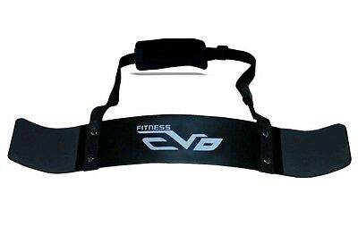 EVO Fitness Weightlifting Arm Blaster Biceps Isolator Gym Support Straps Wraps