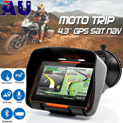 Motorcycle Car GPS SAT NAV Navigation 4.3 Touch 3D Maps 8GB 256M Waterproof IPX7