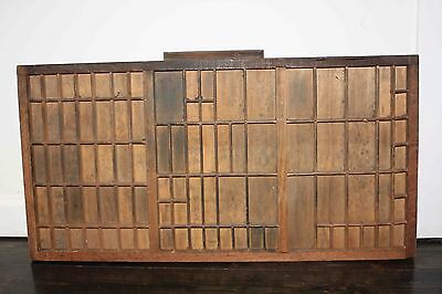 Vintage Printers Tray / Shadow Box / Type Case Wooden / Handmade