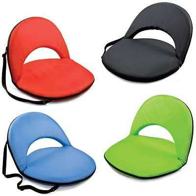 Stadium Sports Pool Beach Seat Chair Portable Chair Recliner Back Rest Black