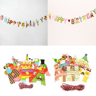 3m Happy Birthday Party Banner String Paper Garland Hanging Bunting Decor New
