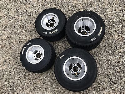 Go- kart Rims & tyres wets with MG Whites