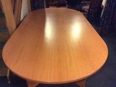 Cherry laminate boardroom table