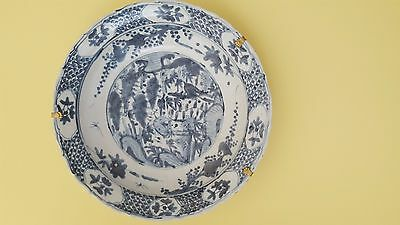 Grand Plat En Porcelaine De Chine Du 17 Eme Sciecle