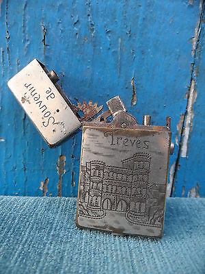 Ancien BRIQUET H.W PATENT 3 Souvenir de Treves Lighter