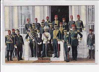 THAILAND : old postcard : visit of king rama V's brother to the sultan of turkey