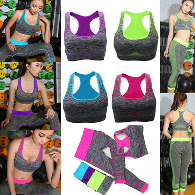 Women's Sport Yoga Gym Running Set Sport Wear Suit Fitness Clothing Workout CO