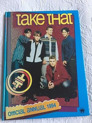 TAKE THAT  hardback book TAKE THAT OFFICIAL ANNUAL 1994
