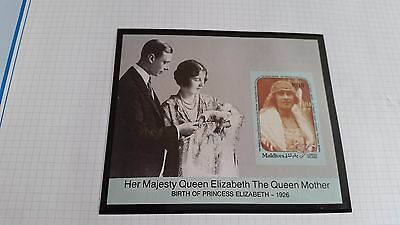Maldive Islands 1990 Sg Ms1399 90Th Birthday Of Queen Mother(No Perfs) Mnh
