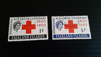 Falkland Islands 1963 Sg 212-213  Red Cross  Used