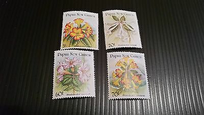 Papua New Guinea  1989 Sg 585-588 Rhododendrons  Mnh