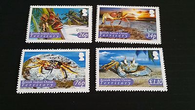 British Indian Ocean Territory 2004 Sg 308-311 Crabs Mnh