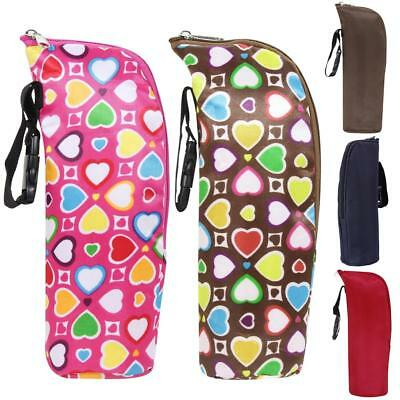 Travel Baby Kid Feeding Milk Bottle Warmer Holder Carrier Bag Stroller Hanging