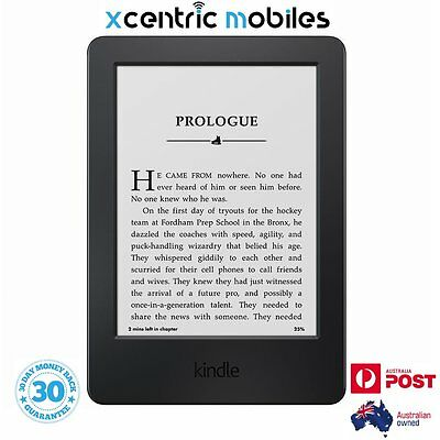 "NEW Kindle Touch 2016 - BLACK - 6"" eReader - 4GB - BRAND NEW - AUS Stock"