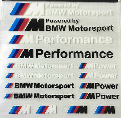 16x BMW M POWER SPORT PERFORMANCE TECH PACK DECAL STICKERS BADGE LOGO M3 M5 M6