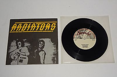 "The Radiators From Space Television Screen 1977 Chiswick 7"" + P/s - Unplayed"