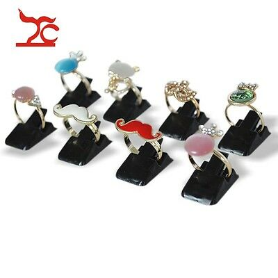 20pcs Black Plastic Hot Sale Portable Finger Rings Display Holder Jewelry Stand