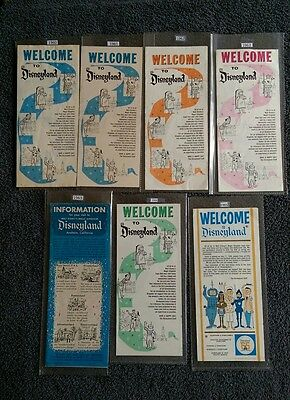 "Vintage Disneyland 1960-1965 ""Welcome to Disneyland"" Brochures-7 Total"