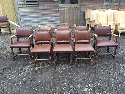 Set Of 8 Edwardian Dining Chairs
