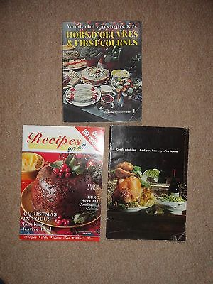 Vintage Book Of Creda Cooking + 2 other Cooking/Recipe Magazines/books