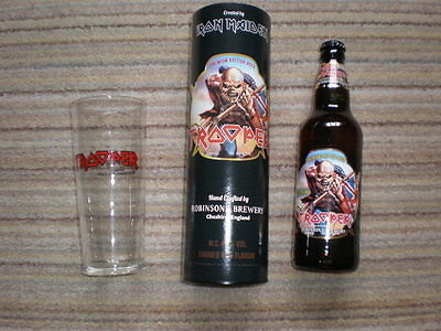 IRON MAIDEN:Trooper Beer Presentation Gift Box with glass and bottle (empty)Lot2