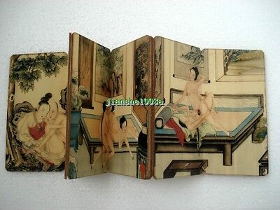 Chinese Old Paper Printing Painting Ancient Wedding Dowry Collect Book Art