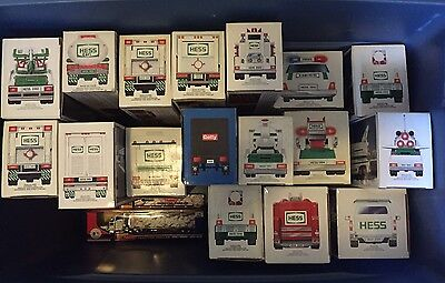 Hess Trucks Lot NIB's 1980's-2013  32 Trucks In Total
