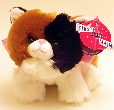 First and Main  Fluffle Kitten Calico Plush Cat  7in.
