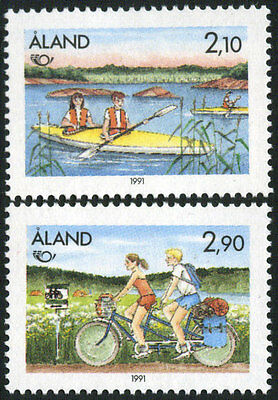 Aland 60-1 MNH - Kayaking and Cycling