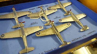 Pre War Dinky No. 60N Fairey Battle Bombers Trade Box 6 x Bomber Planes